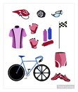 Set Of Track Cycling Equipment On White Background Stock Image - 52195811