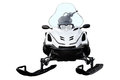 White Snowmobile. Stock Image - 52197041