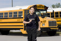 Student Near The School Bus Stock Photography - 5229842