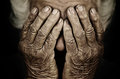 Closeup Portrait Depressed Old Woman Covering Her Face With Hand Stock Photography - 52209602