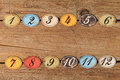 Vintage Number Buttons Royalty Free Stock Images - 52212449