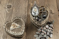 Close Up Of Vintage Heart Shape Jewelry Box Stock Image - 52224761