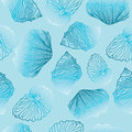 Shells Seamless Vector Pattern Template Royalty Free Stock Image - 52233616