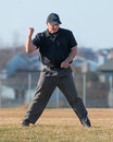 High School Baseball Umpire Makes The Call Royalty Free Stock Photography - 52234187