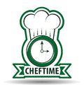 Chef Time Cook Vector Illustration Royalty Free Stock Images - 52242949
