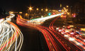 Road With Car Traffic At Night With Blurry Lights Royalty Free Stock Photo - 52258635