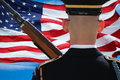 Soldier And Flag Royalty Free Stock Images - 52266619