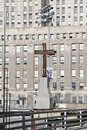 Cross At World Trade Towers Memorial Site For September 11, 2001, New York City, NY Royalty Free Stock Images - 52269509