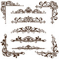 Vector Vintage Ornaments, Corners, Borders Stock Photography - 52282302