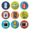 Set Of Household Appliances Flat Icons Stock Images - 52282854