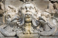 Sculpture On A Fountain In Rome, Italy Royalty Free Stock Image - 52282916