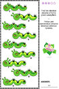 Visual Puzzle - Find Two Identical Images Of Caterpillars Stock Image - 52293661