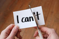 I Can Self Motivation Quote Stock Image - 52295841