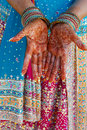 Indian Wedding Bride Getting Henna Applied Stock Image - 5233871