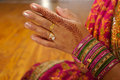Indian Wedding Bride Getting Henna Applied Royalty Free Stock Photography - 5233877