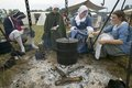 Re-enactment Of Revolutionary War Encampment Demonstrates Camp Life Of Continental Army As Part Of The 225th Anniversary Of The Si Royalty Free Stock Photos - 52308968
