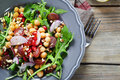 Salad In A Plate On The Boards Royalty Free Stock Photos - 52340008