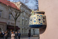 Ancient Teapot On Facade Of Old Building In Vilnius, Lithuania. Stock Photos - 52349473