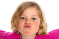 Little Funny Girl Making A Air-kiss Royalty Free Stock Image - 52351076