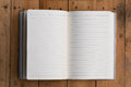 Top View Of Open Note Book Royalty Free Stock Images - 52359819