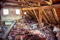 Rusty Abandoned House Wooden Attic Stock Photography - 52380492