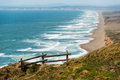 Wooden Fence On A Cliff By The Pacific Ocean Royalty Free Stock Images - 52386879