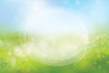 Vector Circle Frame On Nature Bokeh  Background. Royalty Free Stock Photography - 52412897