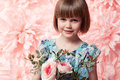 Beautiful Little Girl In Cute Dress With Flower Royalty Free Stock Photography - 52429307