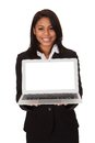 Businesswoman Presenting Laptop Royalty Free Stock Photography - 52430507