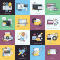Set Of Flat Design Style Icons For Graphic And Web Design Royalty Free Stock Image - 52432326