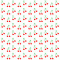 Seamless Pattern With Watercolor Berry Cherry. Endless Repeating Print Background Texture. Fabric Design, Vector Illustration Stock Photo - 52442630