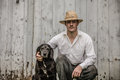 The Farmer And His Best Friend Royalty Free Stock Photos - 52445598