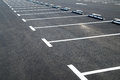Markings On Asphalt Pavement Indicating Parking Spaces Royalty Free Stock Image - 52458056