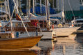 Yachts And Pleasure Boats Parked With Anchor In The Harbour. Stock Photos - 52464713
