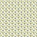 Seamless Pattern Floral Paper Wallpaper Stock Photography - 52480412