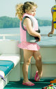 Girl On Front Of Boat/Profile Royalty Free Stock Photo - 5258125