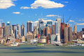 The Mid-town Manhattan Skyline Stock Image - 5258131