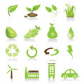 Green Icon Set Stock Images - 5258454