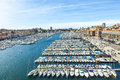Aerial Panoramic View On Old Port In Marseille Stock Photography - 52501582