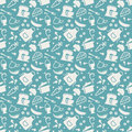 Kitchen Seamless Pattern. Vector Background. Royalty Free Stock Image - 52503416