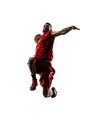 Isolated Basketball Player In Action Is Flying Royalty Free Stock Images - 52506309