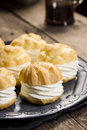 Cream Puff Pastries Or Profiteroles Royalty Free Stock Image - 52508776