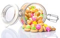 A Jar Of Belly Button Ice Jem Biscuits VII Royalty Free Stock Images - 52511019
