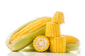 Corn On The Cob Kernels On White Isolated Background Stock Photography - 52525942