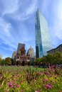 Boston Trinity Church And John Hancock Tower, USA Royalty Free Stock Image - 52530236