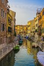 Sunset On The Canal In Venice Royalty Free Stock Images - 52540829