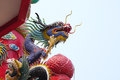 Colorful Chinese Dragon Sculpture Royalty Free Stock Images - 52542389