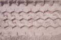 Wheel Track Running Through The Sand, Used As Background Stock Photography - 52545042