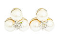 Pearl Diamond Earrings Royalty Free Stock Images - 52545649