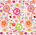 Childish Hippie Wallpaper Stock Images - 52548274